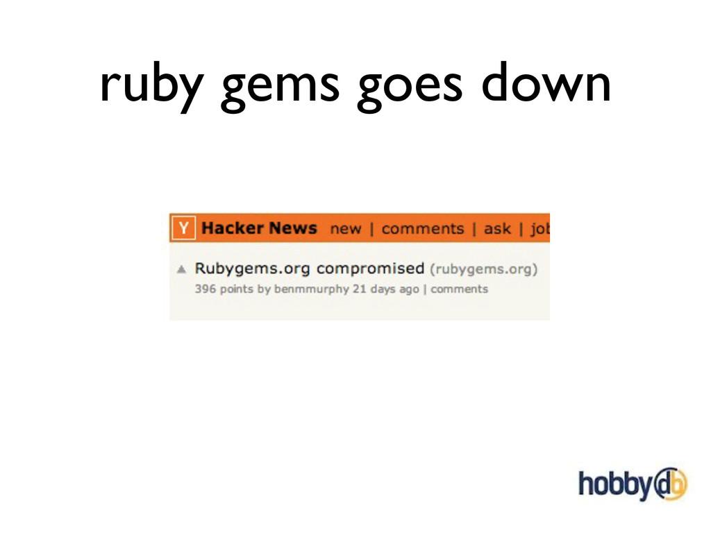 ruby gems goes down