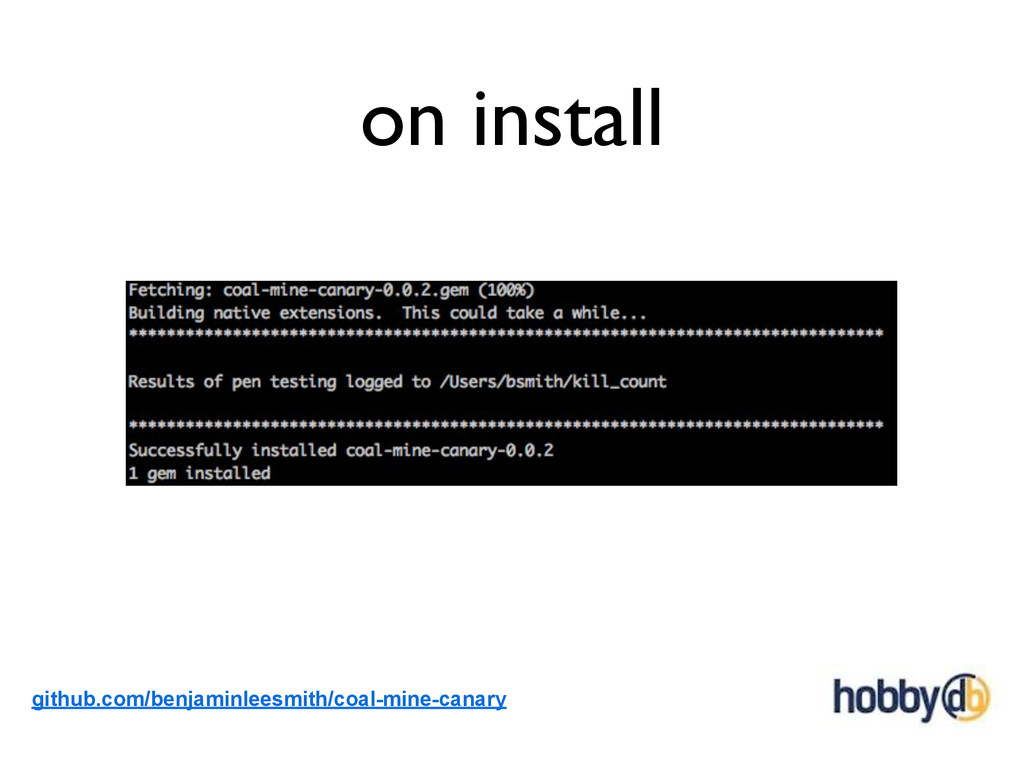 on install github.com/benjaminleesmith/coal-min...