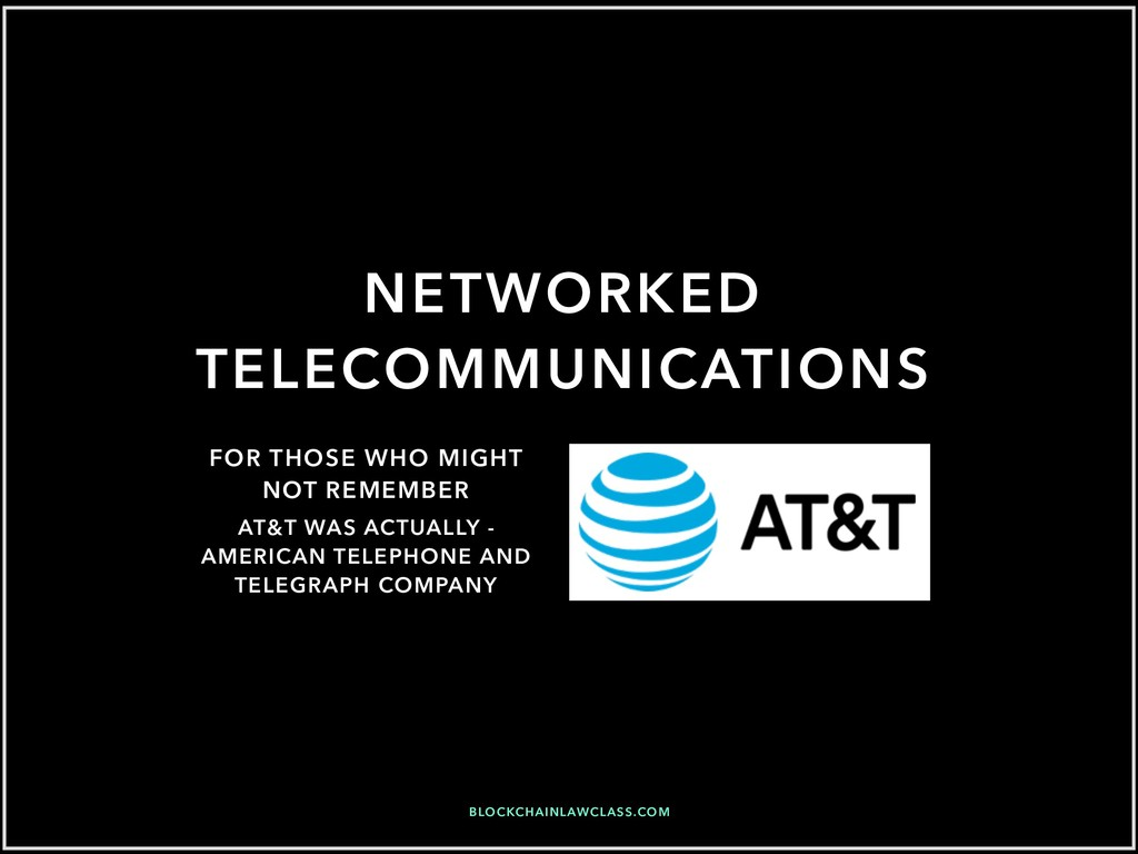 AT&T WAS ACTUALLY - AMERICAN TELEPHONE AND TELE...