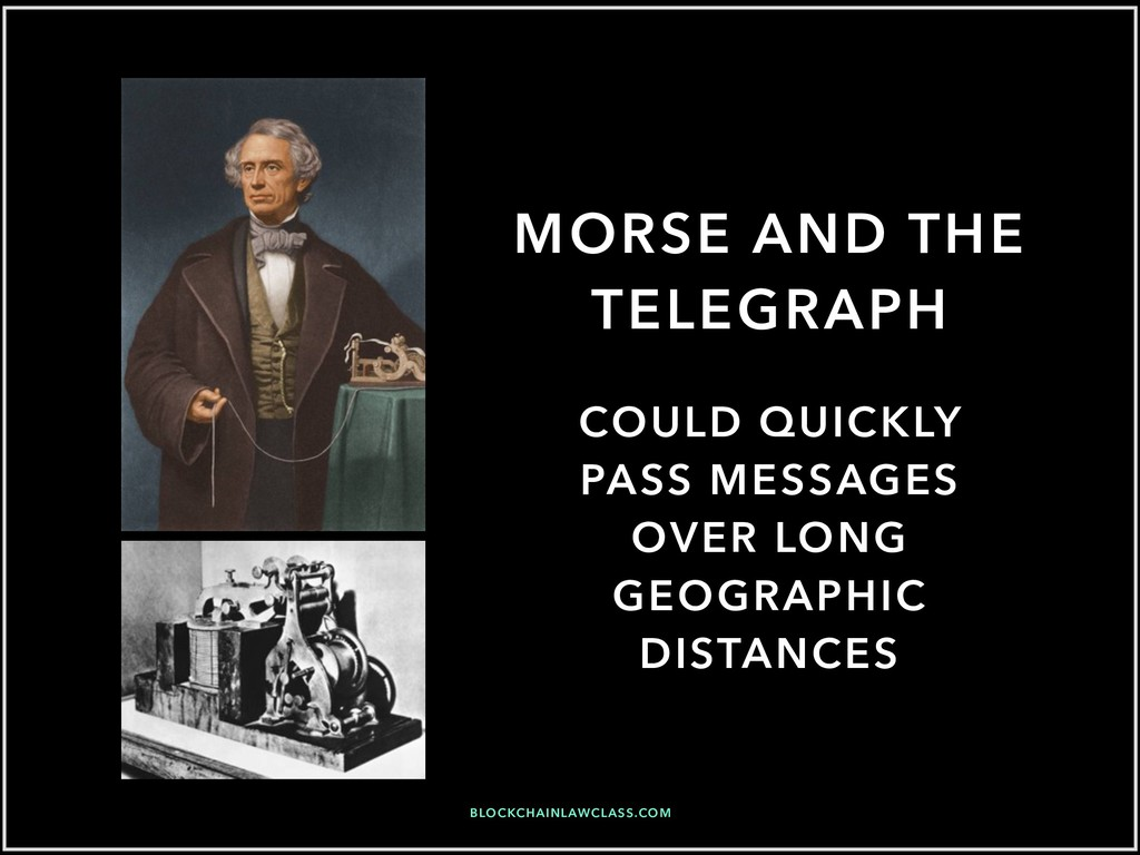 MORSE AND THE TELEGRAPH COULD QUICKLY PASS MESS...