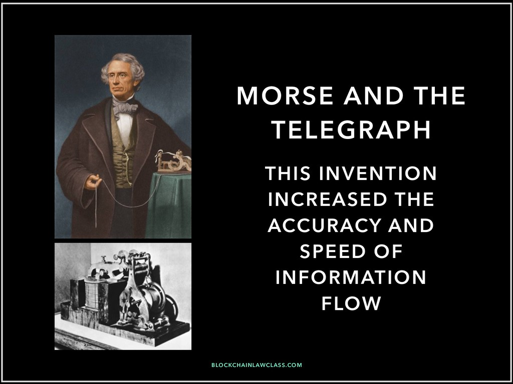 MORSE AND THE TELEGRAPH THIS INVENTION INCREASE...