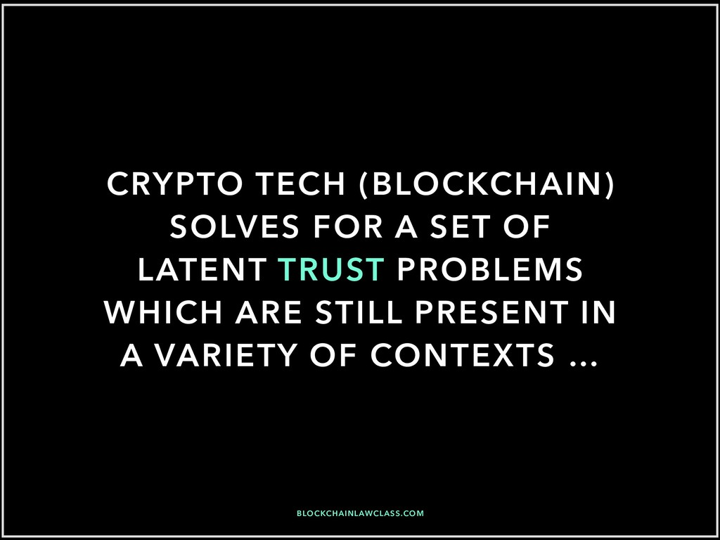 CRYPTO TECH (BLOCKCHAIN) SOLVES FOR A SET OF LA...