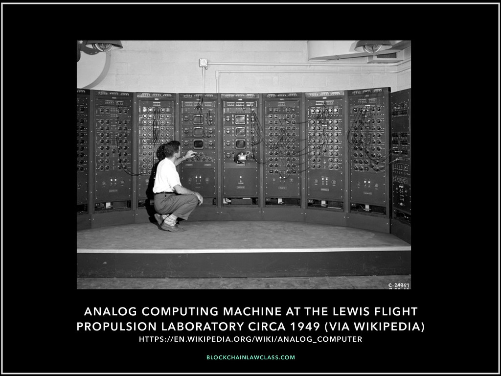 ANALOG COMPUTING MACHINE AT THE LEWIS FLIGHT PR...
