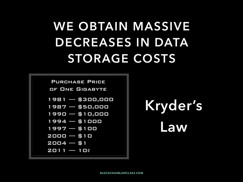 WE OBTAIN MASSIVE DECREASES IN DATA STORAGE COS...