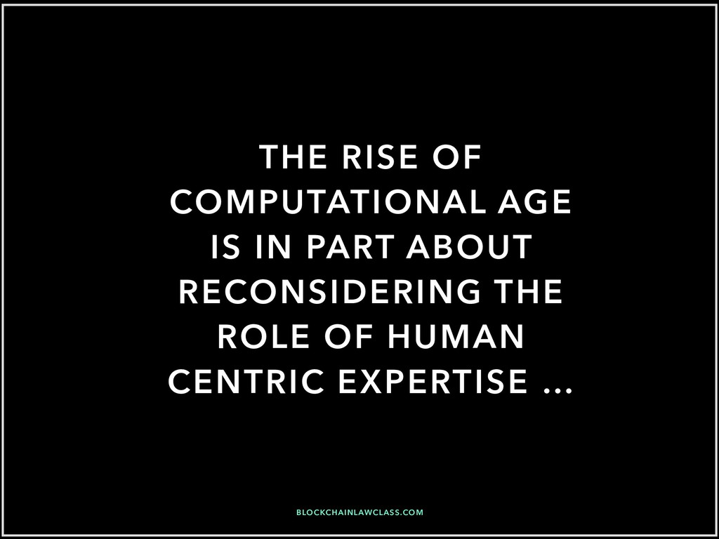 THE RISE OF COMPUTATIONAL AGE IS IN PART ABOUT ...