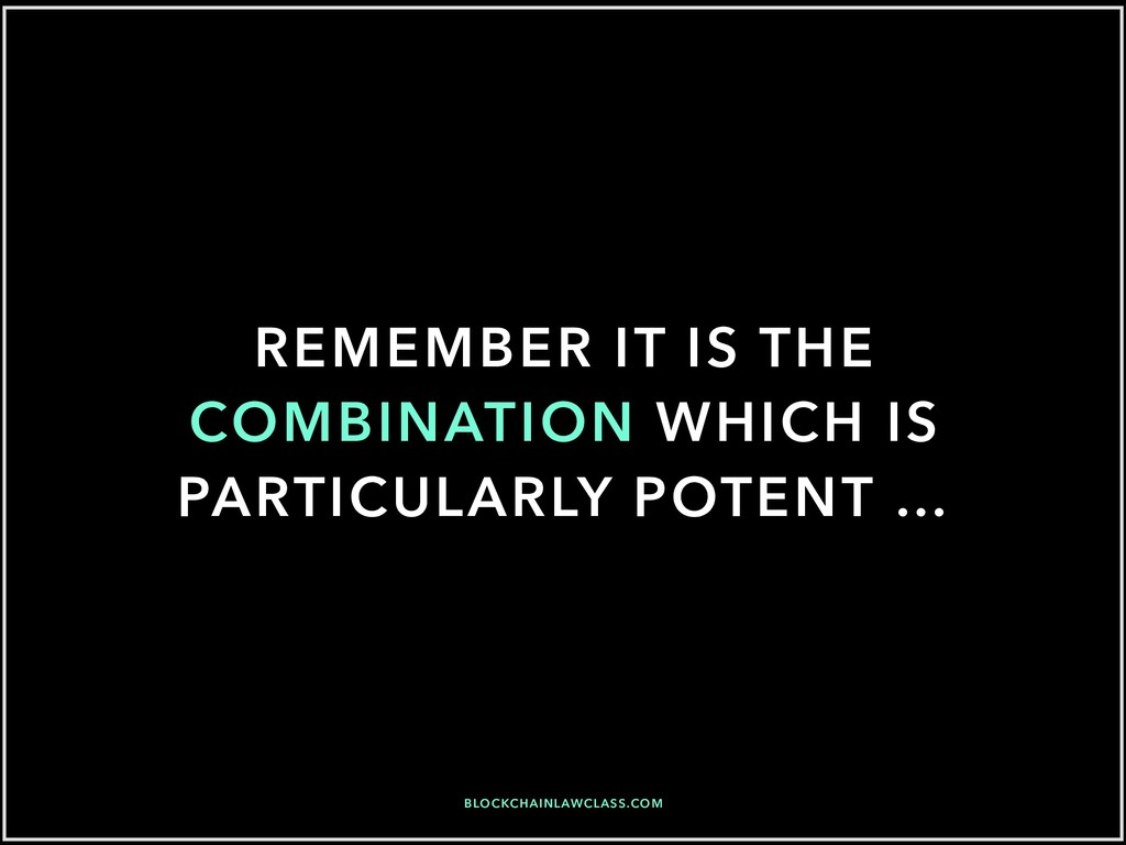 REMEMBER IT IS THE COMBINATION WHICH IS PARTICU...