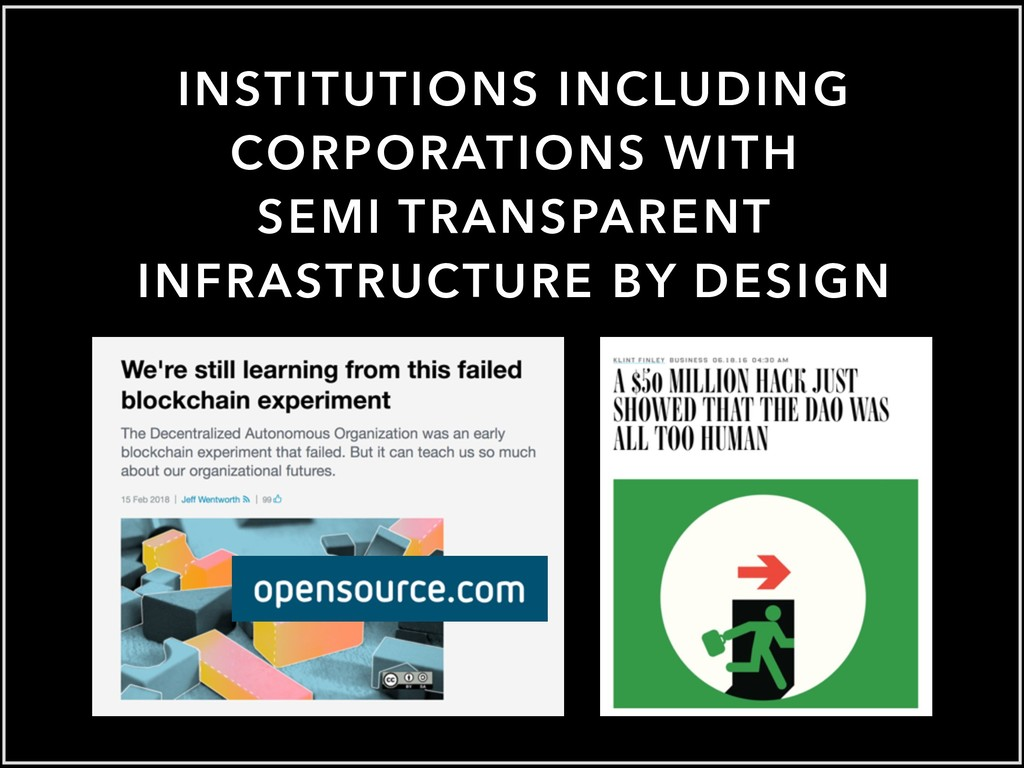 INSTITUTIONS INCLUDING CORPORATIONS WITH SEMI T...