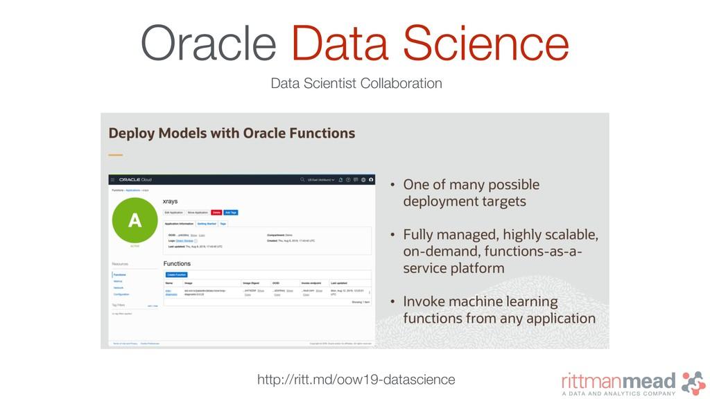 Oracle Data Science Data Scientist Collaboratio...