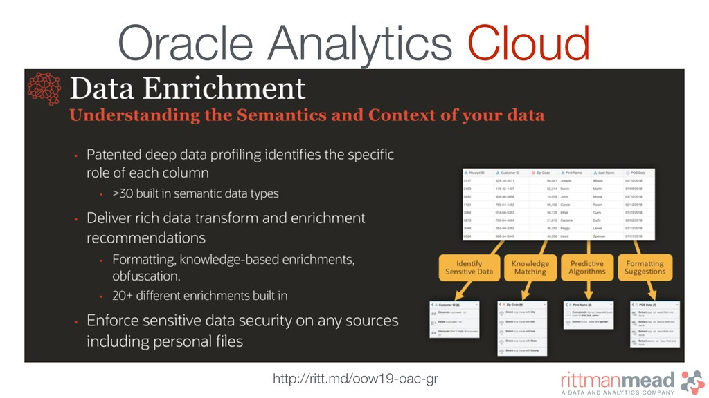 Oracle Analytics Cloud http://ritt.md/oow19-oac...