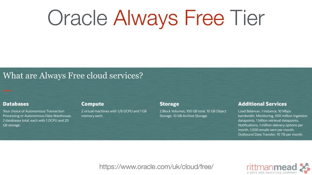 Oracle Always Free Tier https://www.oracle.com/...