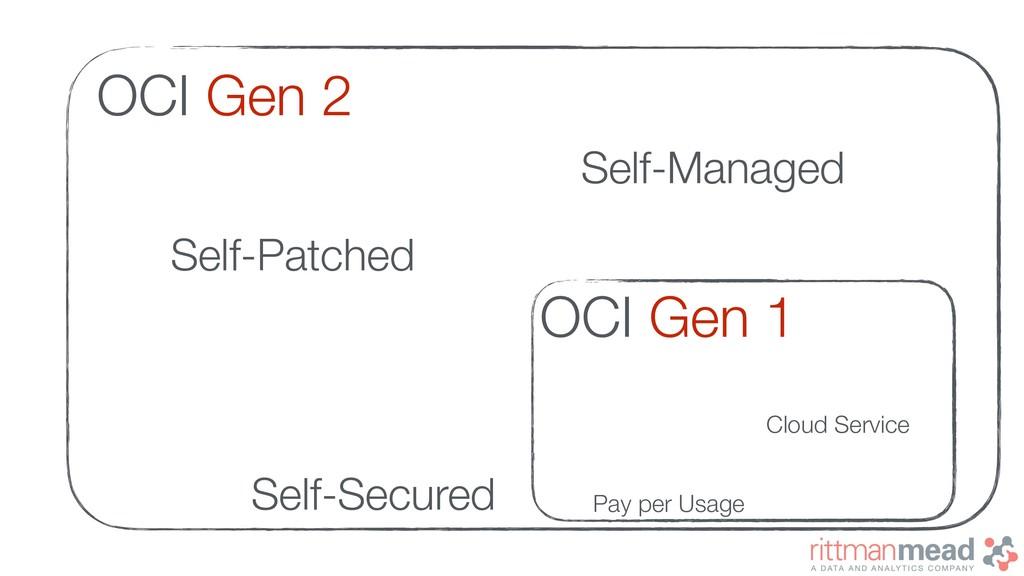 OCI Gen 1 OCI Gen 2 Cloud Service Pay per Usage...