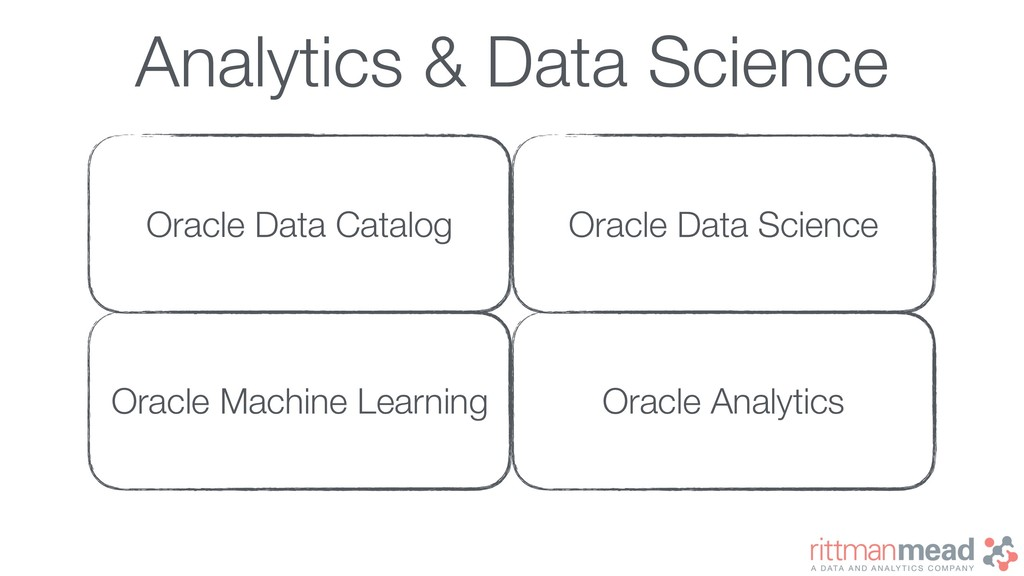 Analytics & Data Science Oracle Data Catalog Or...