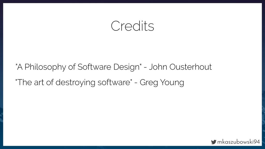 "mkaszubowski94 ""A Philosophy of Software Design..."