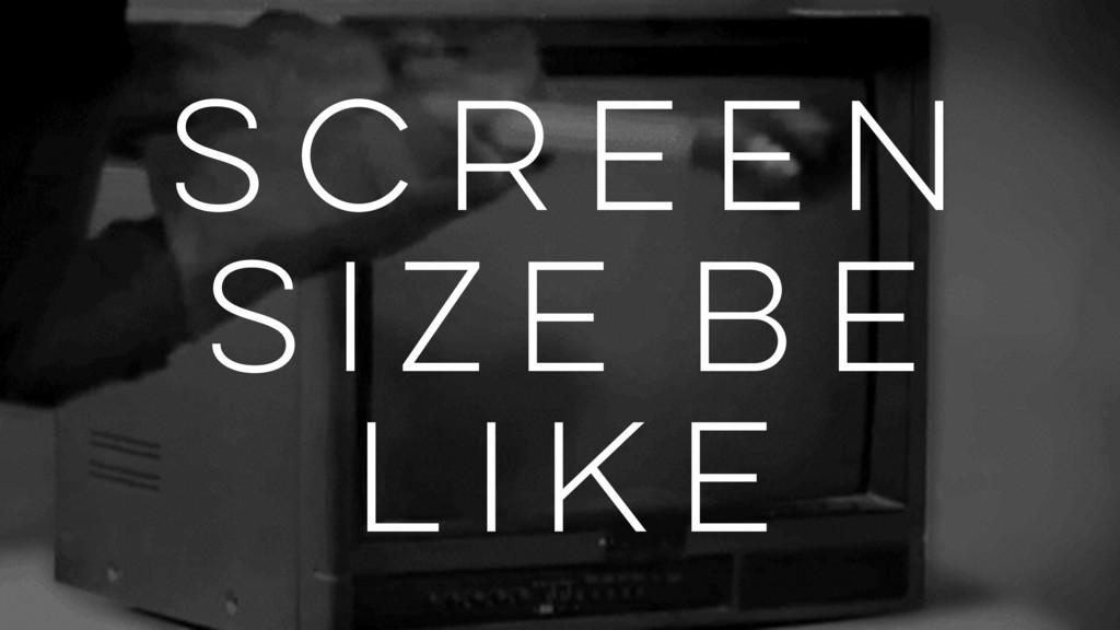 screen size be like
