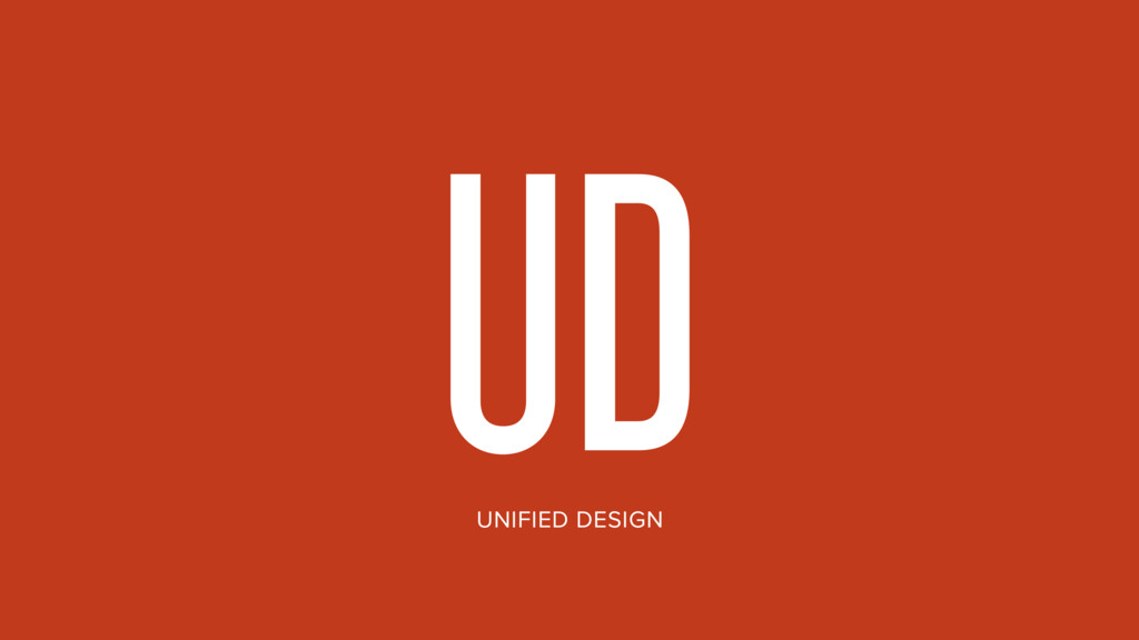 UD UNIFIED DESIGN