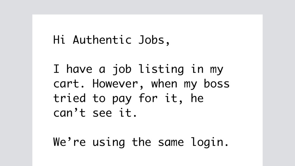 Hi Authentic Jobs, I have a job listing in my c...