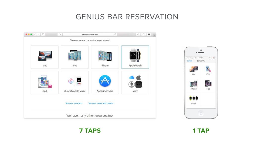 1 TAP 7 TAPS GENIUS BAR RESERVATION