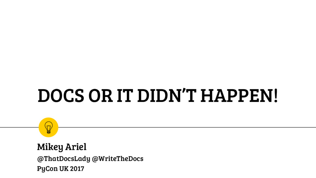 DOCS OR IT DIDN'T HAPPEN! Mikey Ariel @ThatDocs...