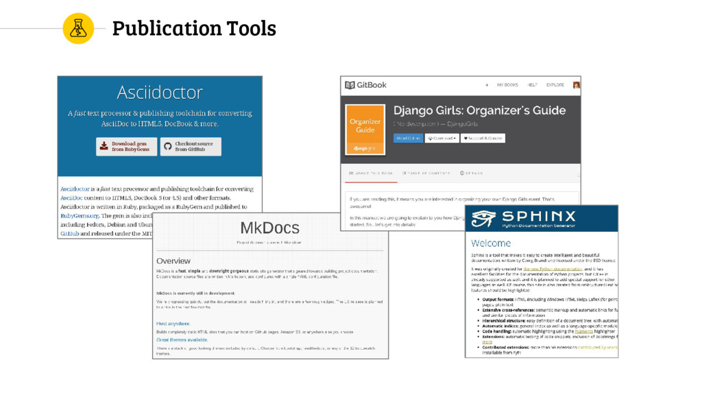 Publication Tools