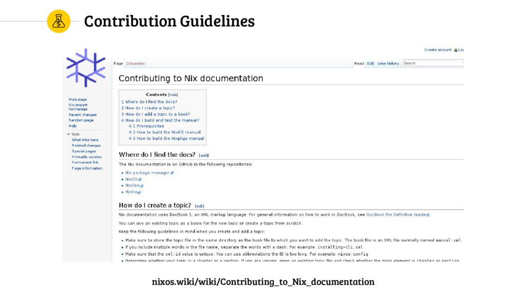 Contribution Guidelines nixos.wiki/wiki/Contrib...