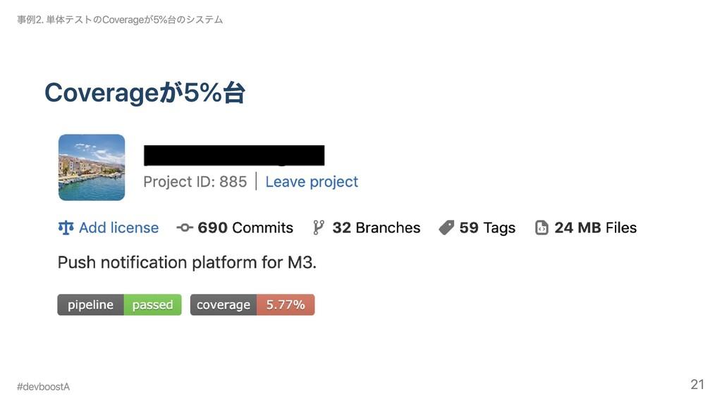 Coverageが5%台 事例2. 単体テストのCoverageが5%台のシステム #devb...