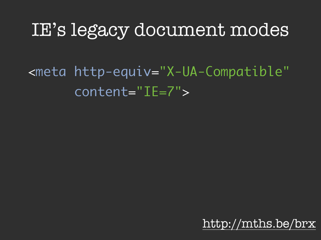 "<meta http-equiv=""X-UA-Compatible"" content=""IE=..."