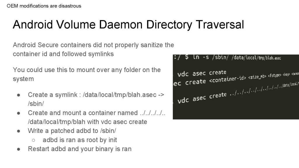 Android Volume Daemon Directory Traversal Andro...