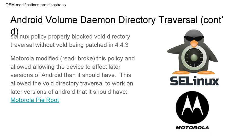 Android Volume Daemon Directory Traversal (cont...