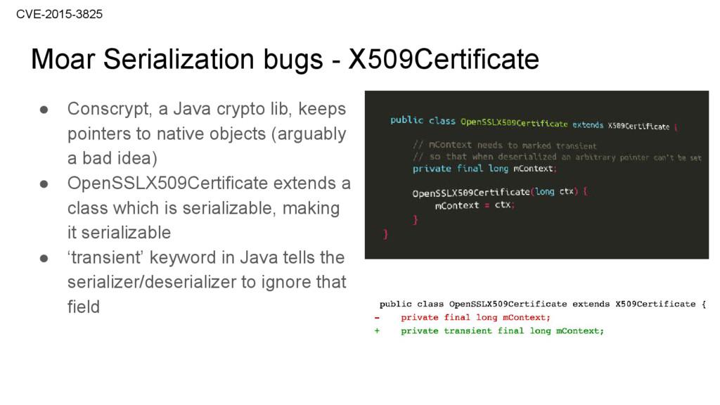 Moar Serialization bugs - X509Certificate CVE-2...