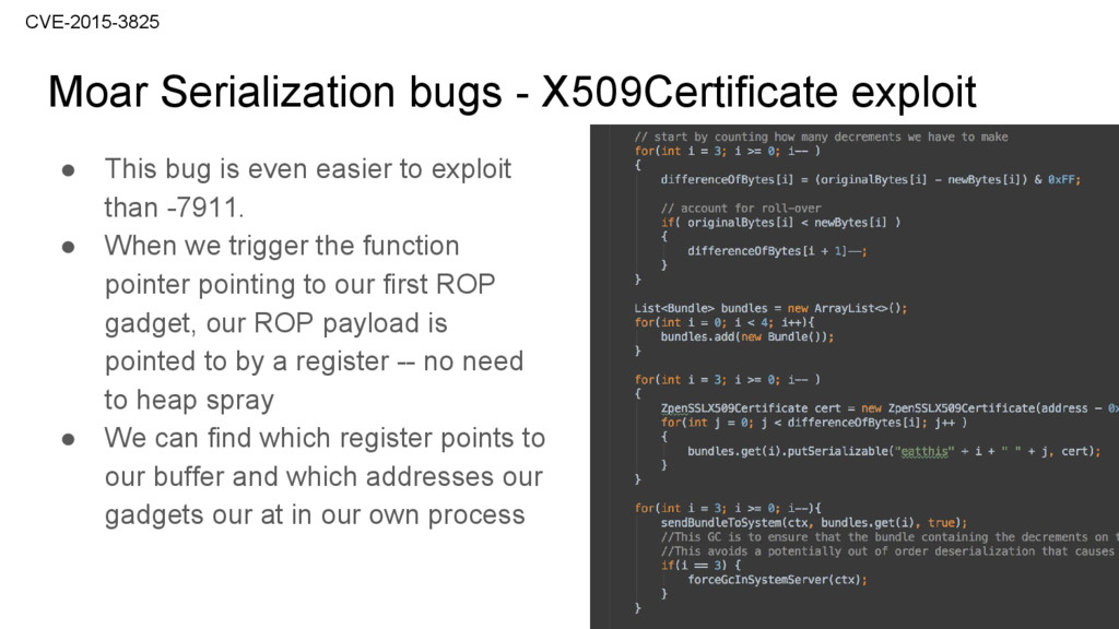 ● This bug is even easier to exploit than -7911...
