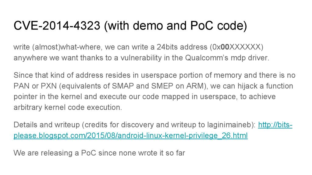 CVE-2014-4323 (with demo and PoC code) write (a...
