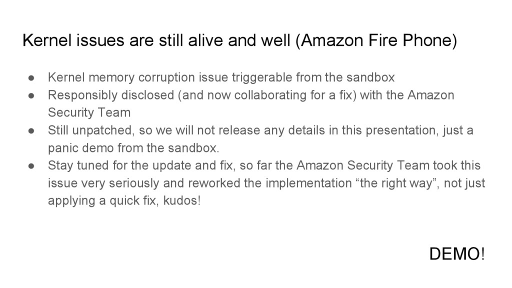 Kernel issues are still alive and well (Amazon ...