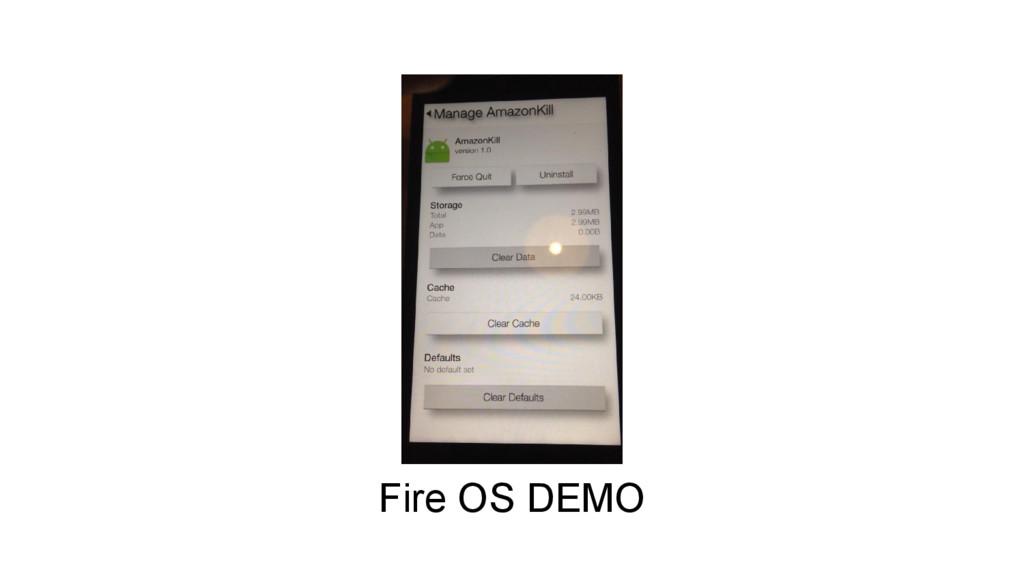 Fire OS DEMO