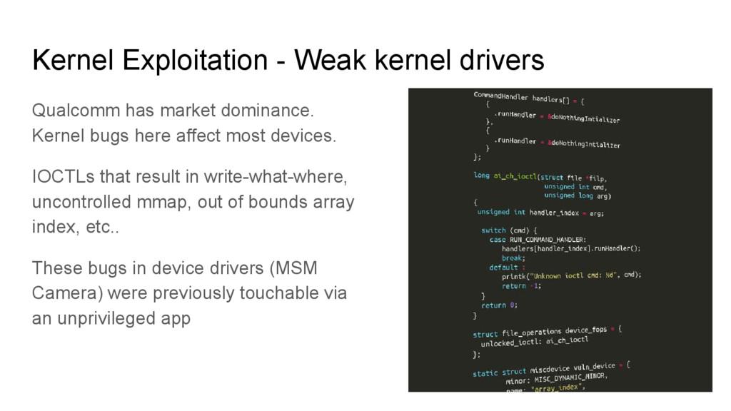 Kernel Exploitation - Weak kernel drivers Qualc...