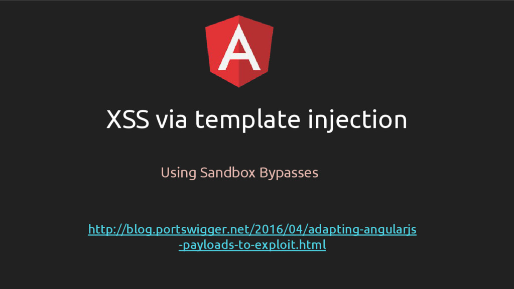 XSS via template injection Using Sandbox Bypass...