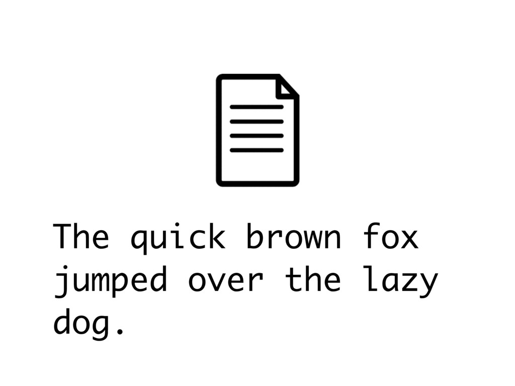 The quick brown fox jumped over the lazy dog.