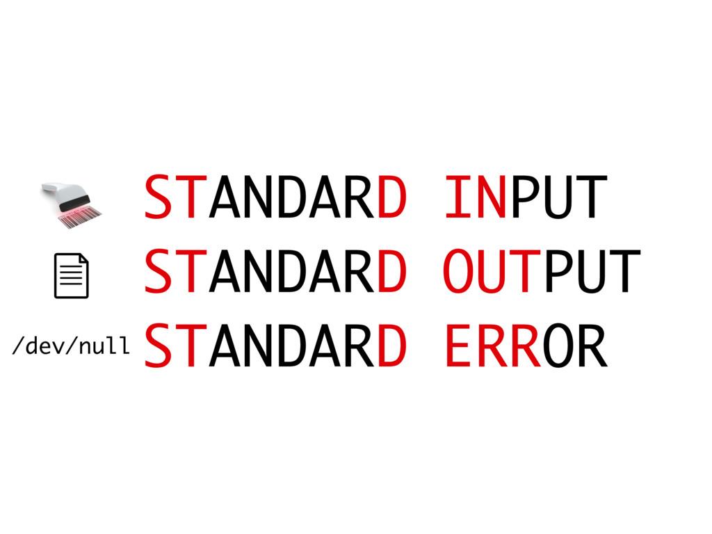 STANDARD INPUT STANDARD OUTPUT STANDARD ERROR /...