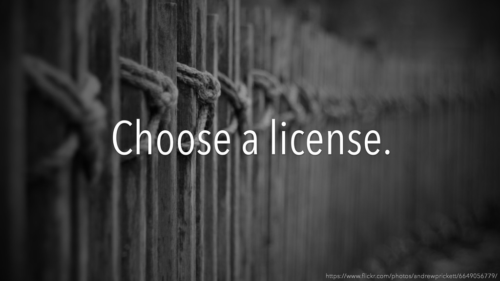 Choose a license. https://www.flickr.com/photos/...