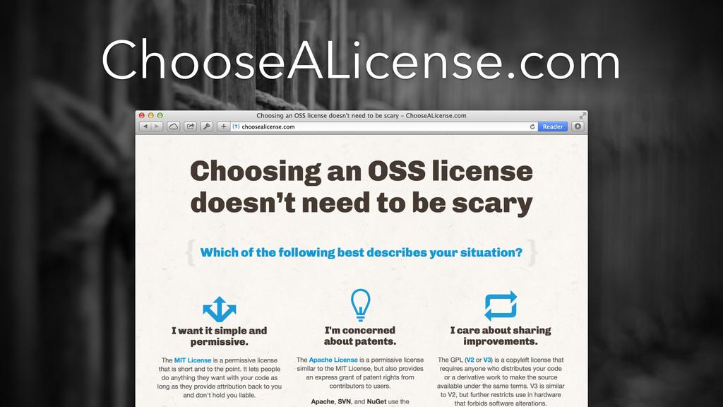 ChooseALicense.com