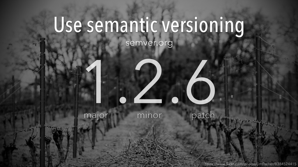 Use semantic versioning https://www.flickr.com/p...