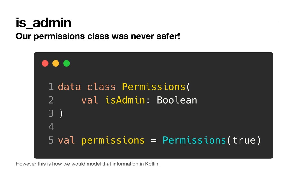 is_admin Our permissions class was never safer!...