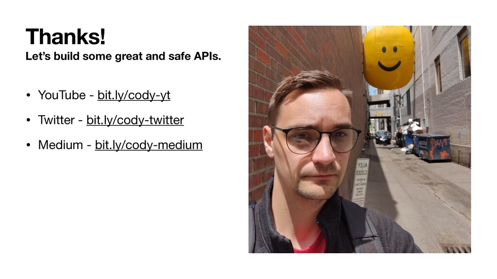 Let's build some great and safe APIs. • YouTube...