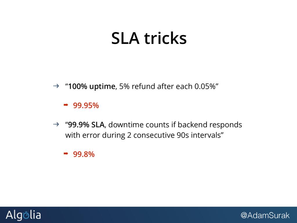 "@AdamSurak SLA tricks ""100% uptime, 5% refund a..."