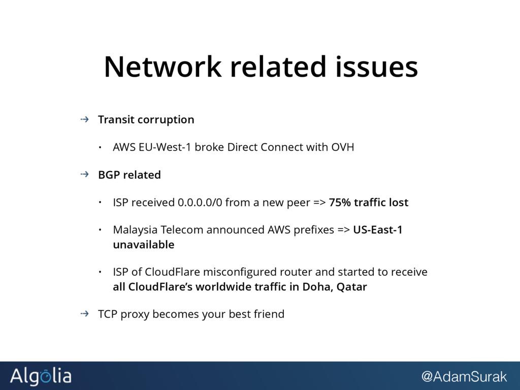 @AdamSurak Network related issues Transit corru...