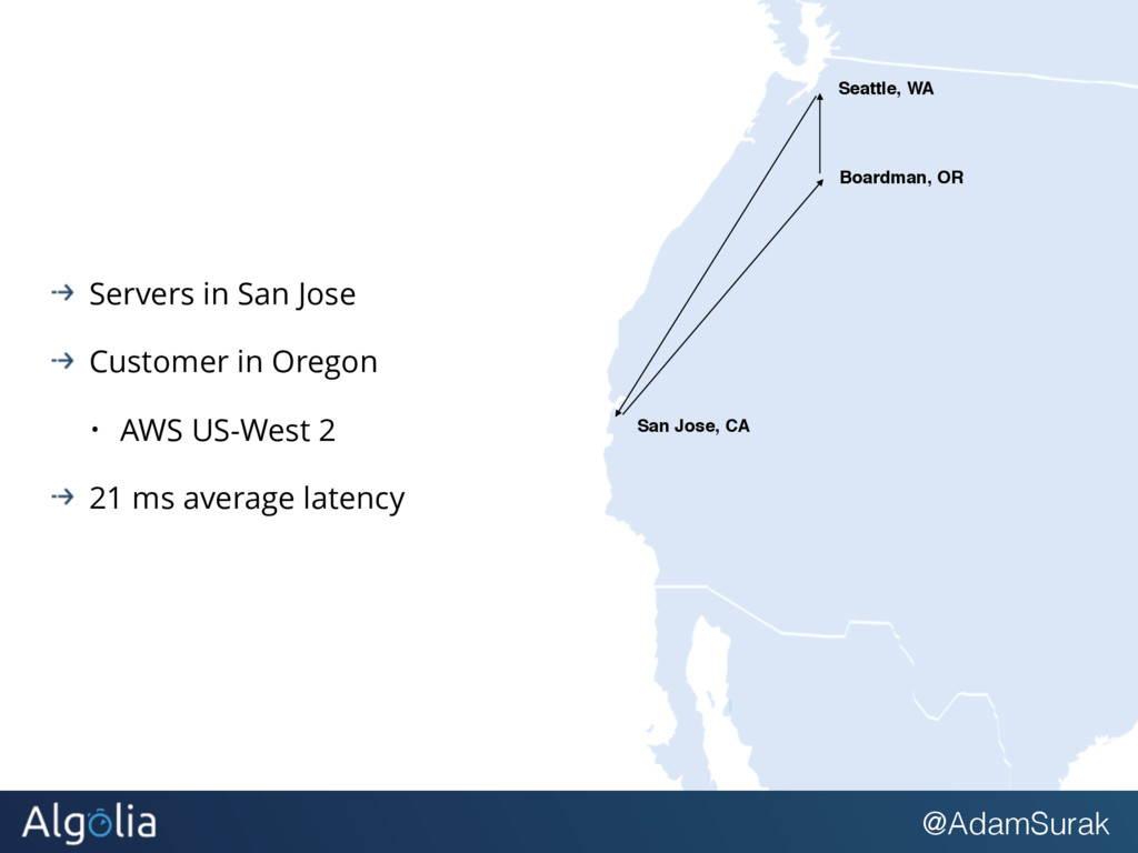 @AdamSurak Servers in San Jose Customer in Oreg...