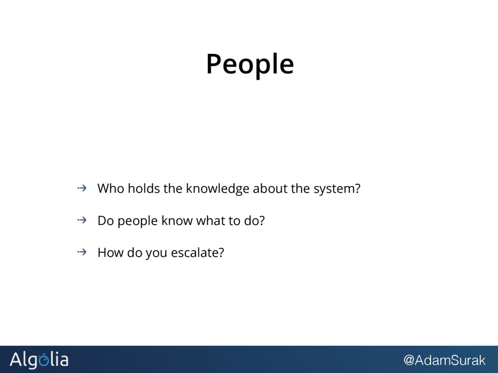 @AdamSurak People Who holds the knowledge about...