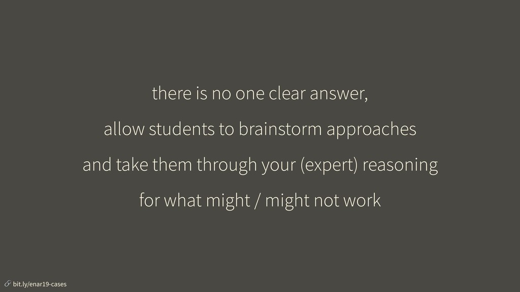 there is no one clear answer, allow students to...