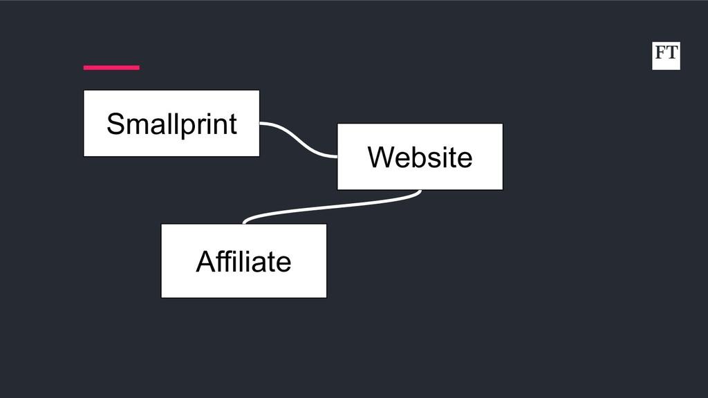 Website Affiliate Smallprint