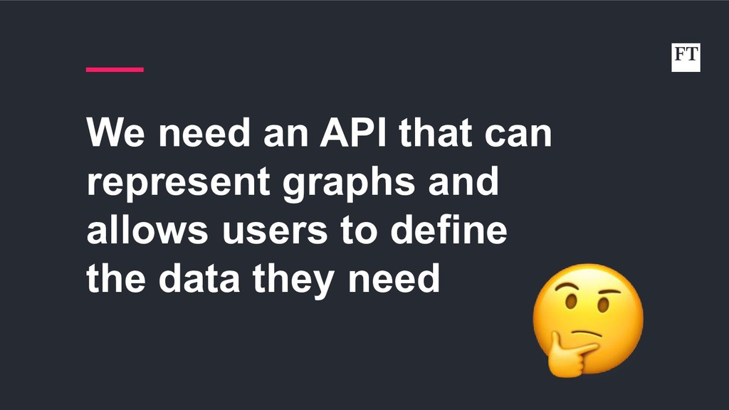 We need an API that can represent graphs and al...