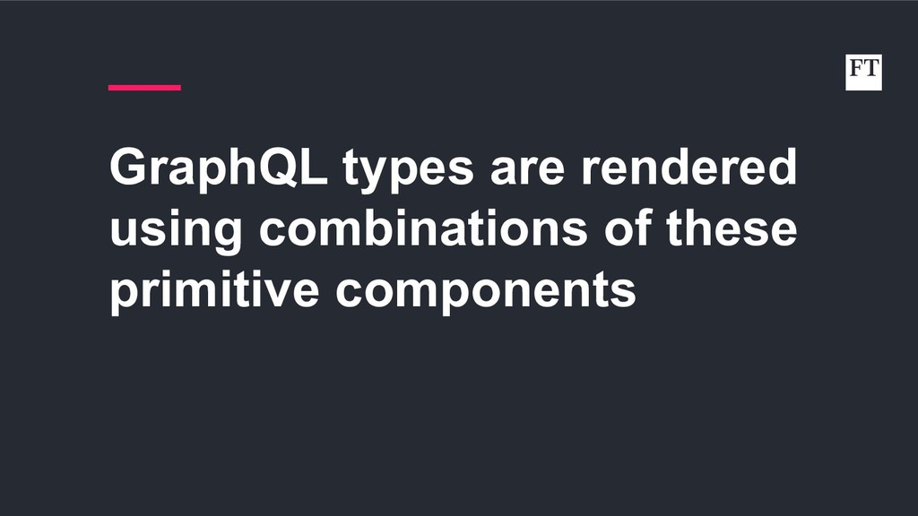GraphQL types are rendered using combinations o...